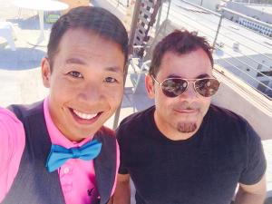 Kevin and Hersh on set
